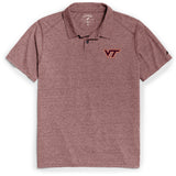 Virginia Tech Hokies Men's Heather Maroon Reclaim Polo Tee