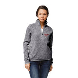 Virginia Tech Hokies Women's Heather Grey Saranac 1/4 Zip Sweater