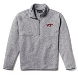 Virginia Tech Hokies Men's Heather Grey Saranac 1/4 Zip Sweater
