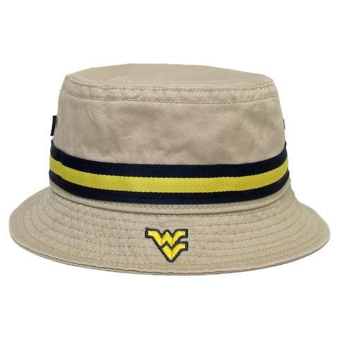 West Virginia Mountaineers Khaki Relaxed Twill Bucket Hat