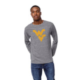 West Virginia Mountaineers Men's Heather Grey Victory Falls Long Sleeve Tee