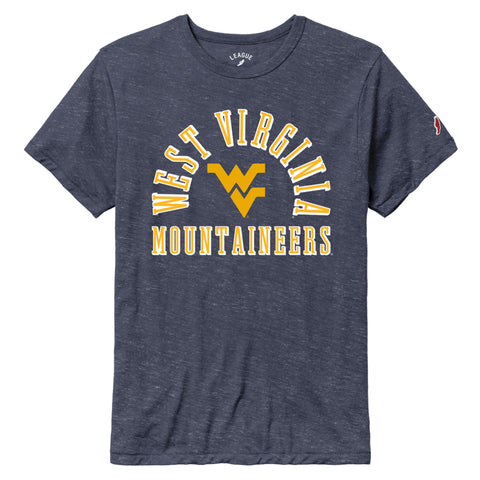 West Virginia Mountaineers Heather Navy Victory Falls Short Sleeve Tee