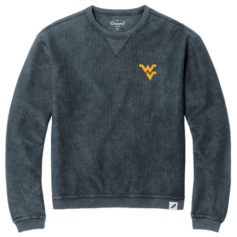 West Virginia Mountaineers Unisex Denim  Timber Crew Corded Sweatshirt