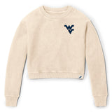 West Virginia Mountaineers Women's Vanilla Timber Crop Crew