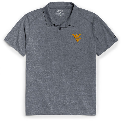 West Virginia Mountaineers Men's Heather Navy Reclaim Polo Tee