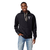 Yale Men's Navy Stadium Hood Sweatshirt