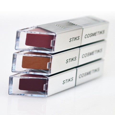 Stiks Cosmetiks Gift Set-Lipstick Trio - Sable Beauty - 4