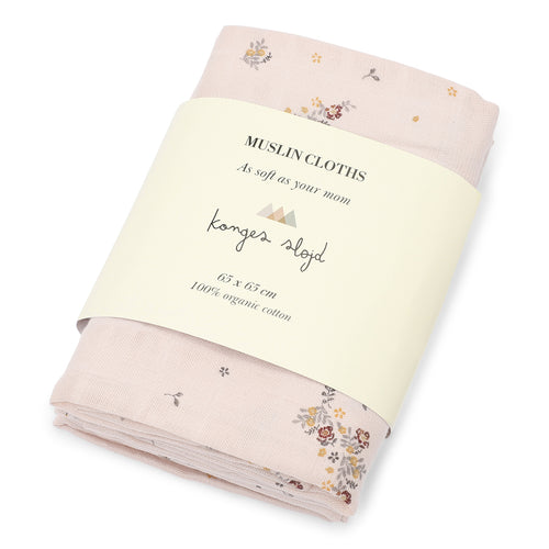 3 PACK MUSLIN CLOTH - NOSTALGIE BLUSH