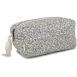 QUILTED TOILETRY BAG - BLUE BLOSSOM MIST