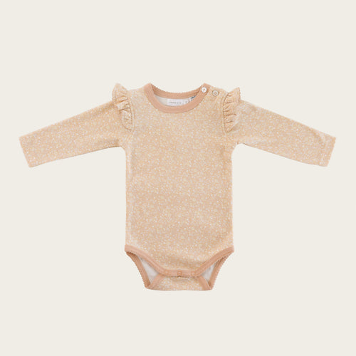 Organic Cotton Frill Bodysuit - Meadow Floral