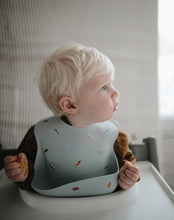 Load image into Gallery viewer, Silicone Baby Bib (Cherries)