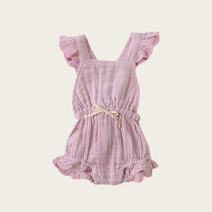 Organic Cotton Muslin Indie Playsuit - Butterfly
