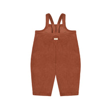 Load image into Gallery viewer, Deep Earth Terry Cropped Dungarees