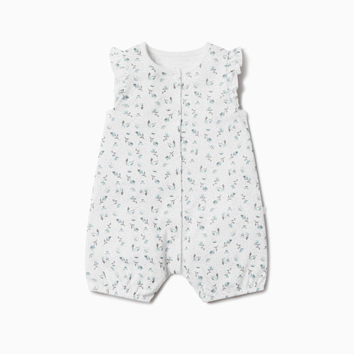 Floral Ruffle Summer Sleepsuit