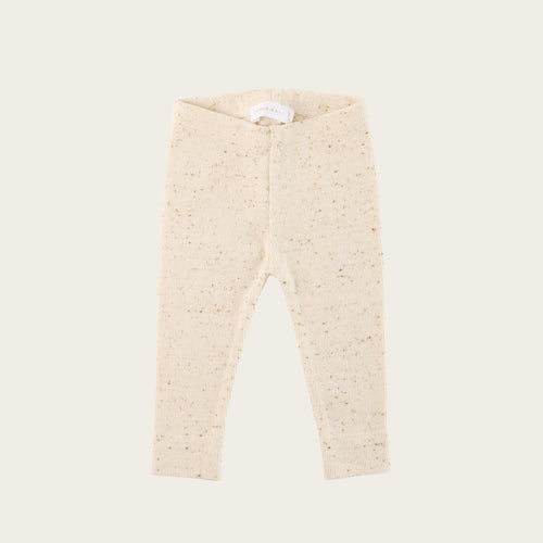 Organic Cotton Ribbed Legging - Honey
