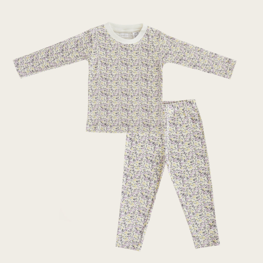 Organic Cotton Long Pyjama - Summer Floral