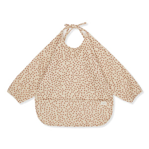 DINNER BIB LONG SLEEVE - BUTTERCUP-ROSE