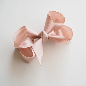 Nude Clip Bow - Small Piggy Tail Pair (4420543250494)