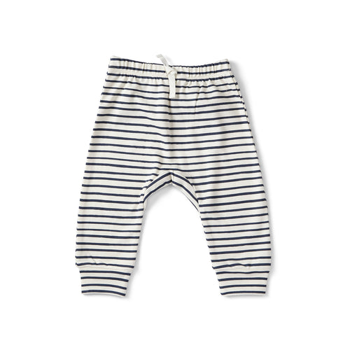 Harem Pant - Stripes Away Ink Blue