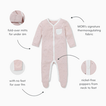 Load image into Gallery viewer, Front-Opening Sleepsuit - Blue Stripe
