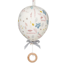 Load image into Gallery viewer, Music Mobile, Balloon w/ velcro loop - OCS Pressed Leaves Rose