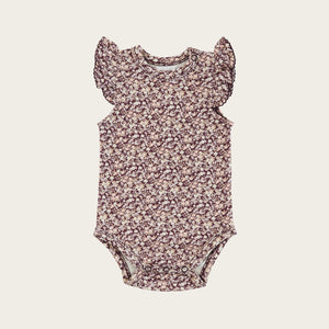 Organic Cotton Frill Singlet Bodysuit - Lily of the Valley