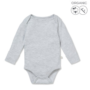 Long sleeve bodysuit - Grey (4423078248510)