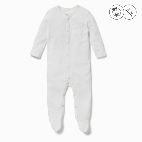 Front-Opening Sleepsuit - White