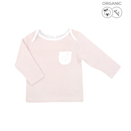 Everyday Long Sleeve T-Shirt - Blush Stripe (4425986408510)