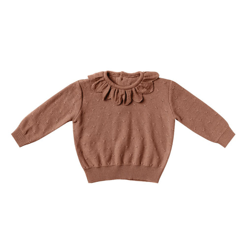 Petal Knit Sweater | clay