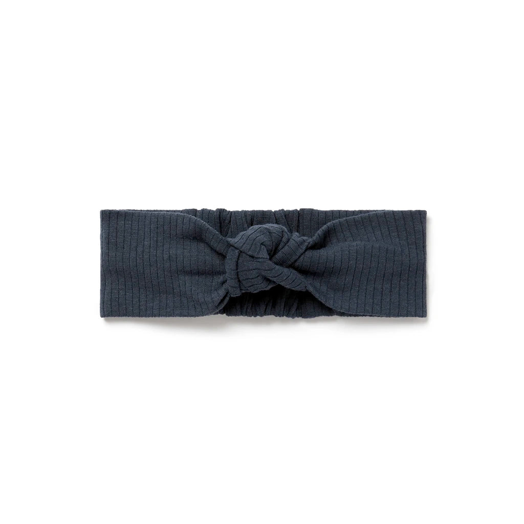 Ribbed Headband - Navy