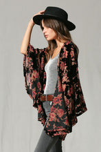 Load image into Gallery viewer, Botanical Burnout Velvet Kimono