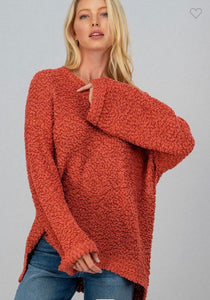 The Rosy Popcorn Sweater