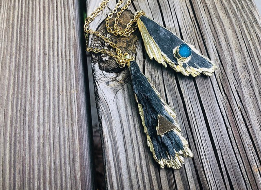 Kyanite Natural Edge Necklace