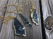 Load image into Gallery viewer, Kyanite Natural Edge Necklace