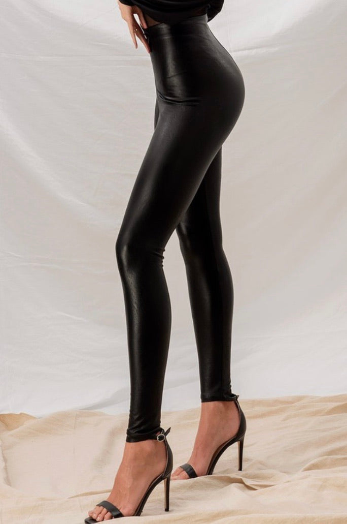 Mamba Vegan Leather Leggings