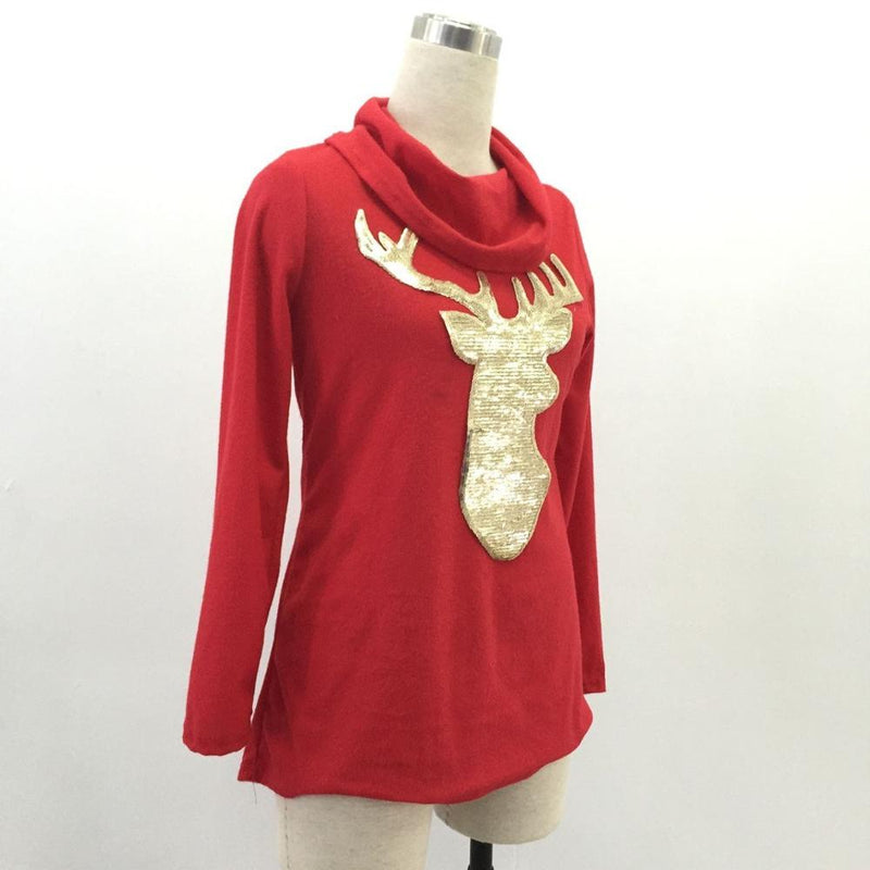 Aldorina Christmas Sweatshirt Golden Deer Sweatshirt