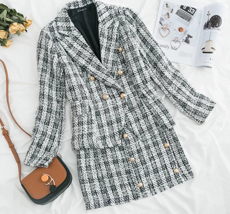 Aldorina Tweed  Two-piece Set (blazer and skirt)