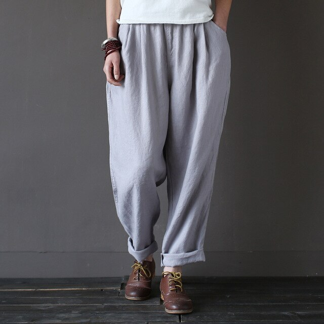 Aldorina One Size Cotton Linen Vintage Trouser