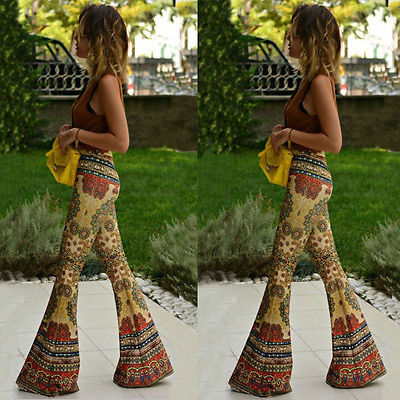 Aldorina Flared Stretch High Waist Boho Leggins