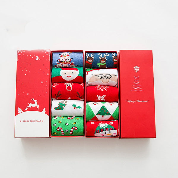Aldorina Christmas Set Of Cotton Socks