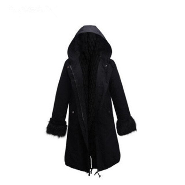 Aldorina Winter Warm Hooded Fur Parkas