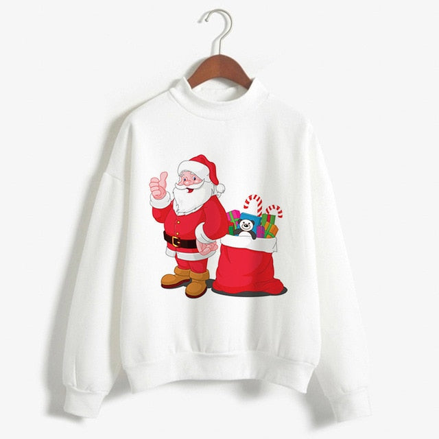 Aldorina  Plus Size Christmas Winter Long Sleeve Sweatshirt