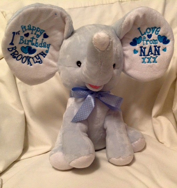 Blue Dumble Elephant Cubbie - Mikki & Me Kids