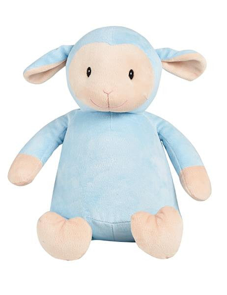 Blue lamb cubbie newborn gift personalised