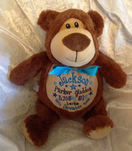 Cubbies Personalised Embroidered Brown bear