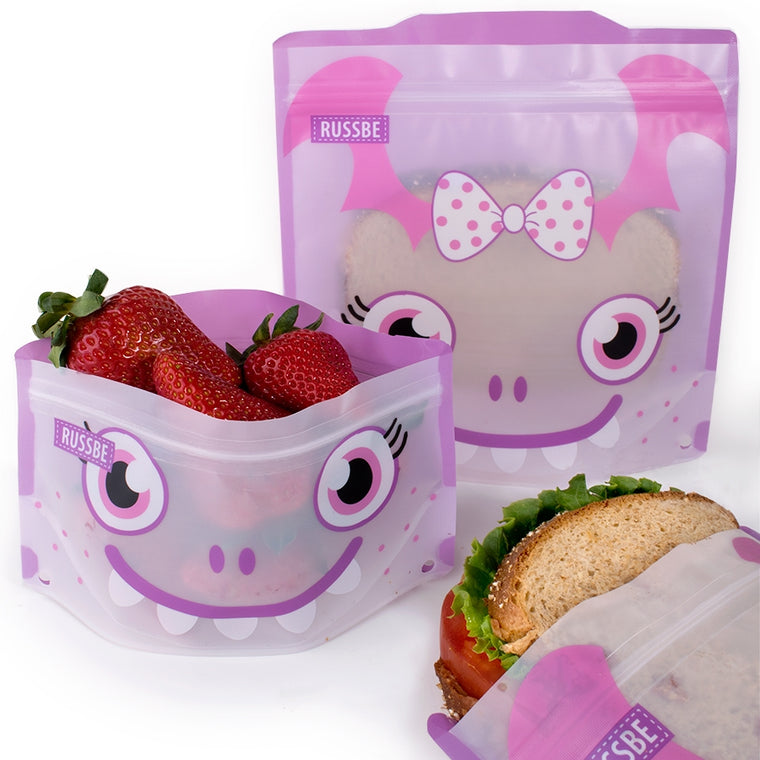 Russbe Snack & Sandwich Pockets - Purple Monster
