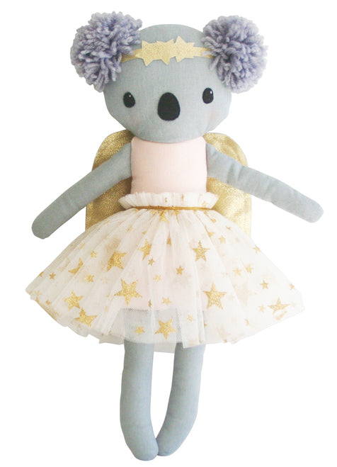 Koala Angel Doll - Gold & Pink