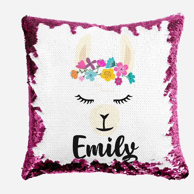 Sleeping Llama - Personalised Cushion Cover