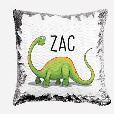 Green Bronty - Personalised Cushion Cover - Mikki & Me Kids